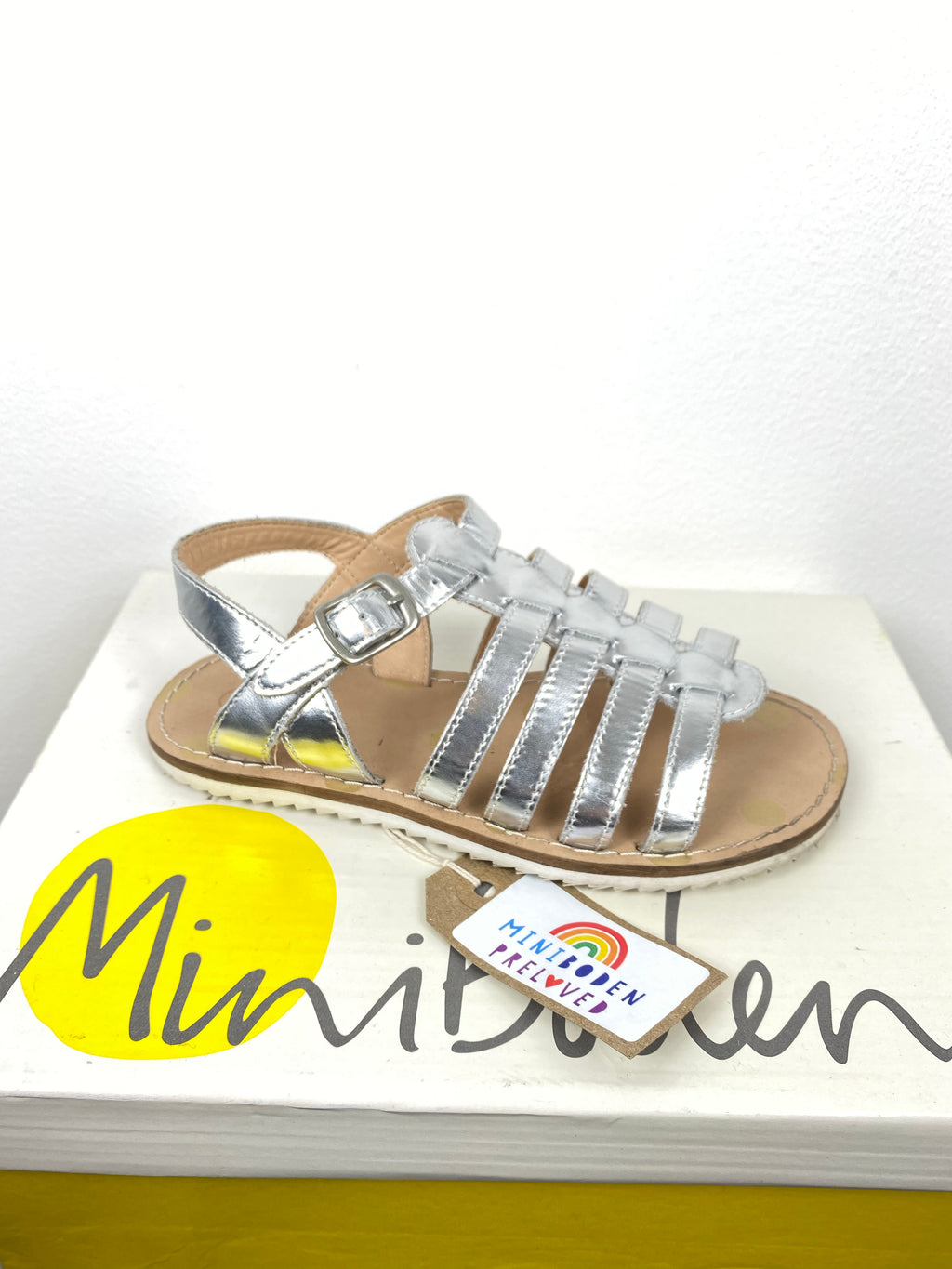 Silver Gladiator Sandals (Infant Size- 30)