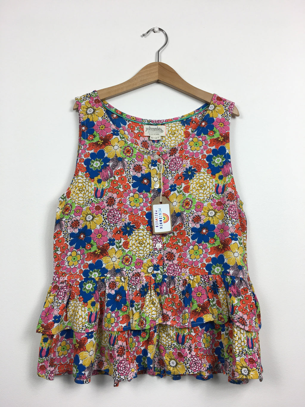 Vibrant Multi-Coloured Floral Sun Top (11-12 Years)