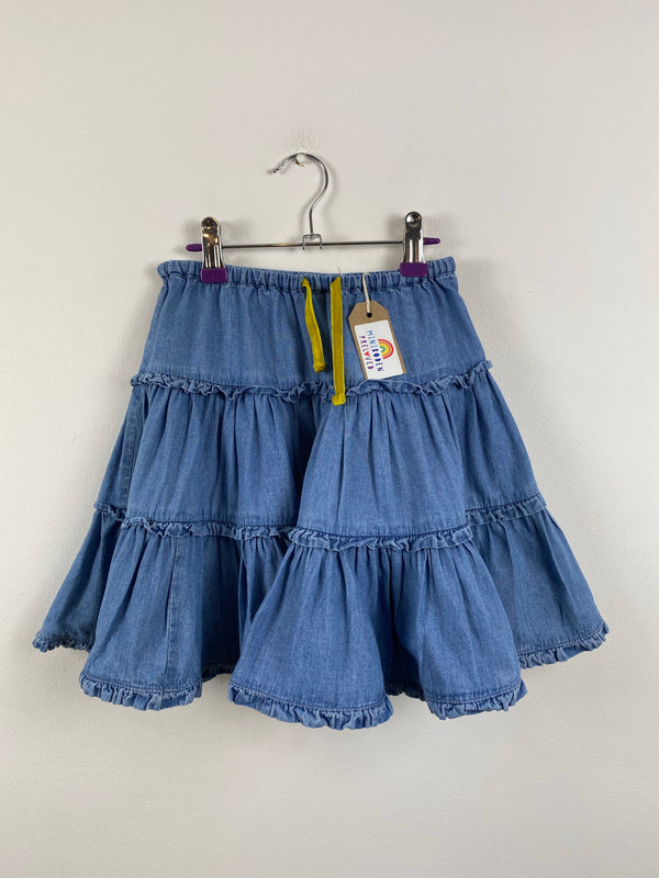 Soft Blue Denim Twirly Skirt (4-5 Years)