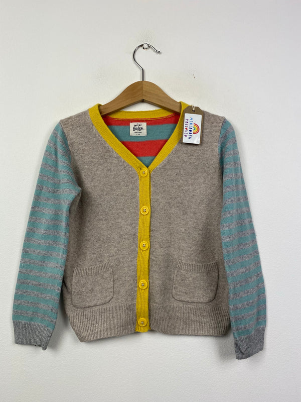 Cashmere Blend Grey Stripy Cardigan (3-4 Years)