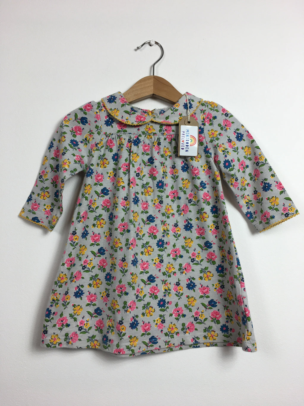 Peter Pan Collared Liberty Print Dress (6-12 Months)