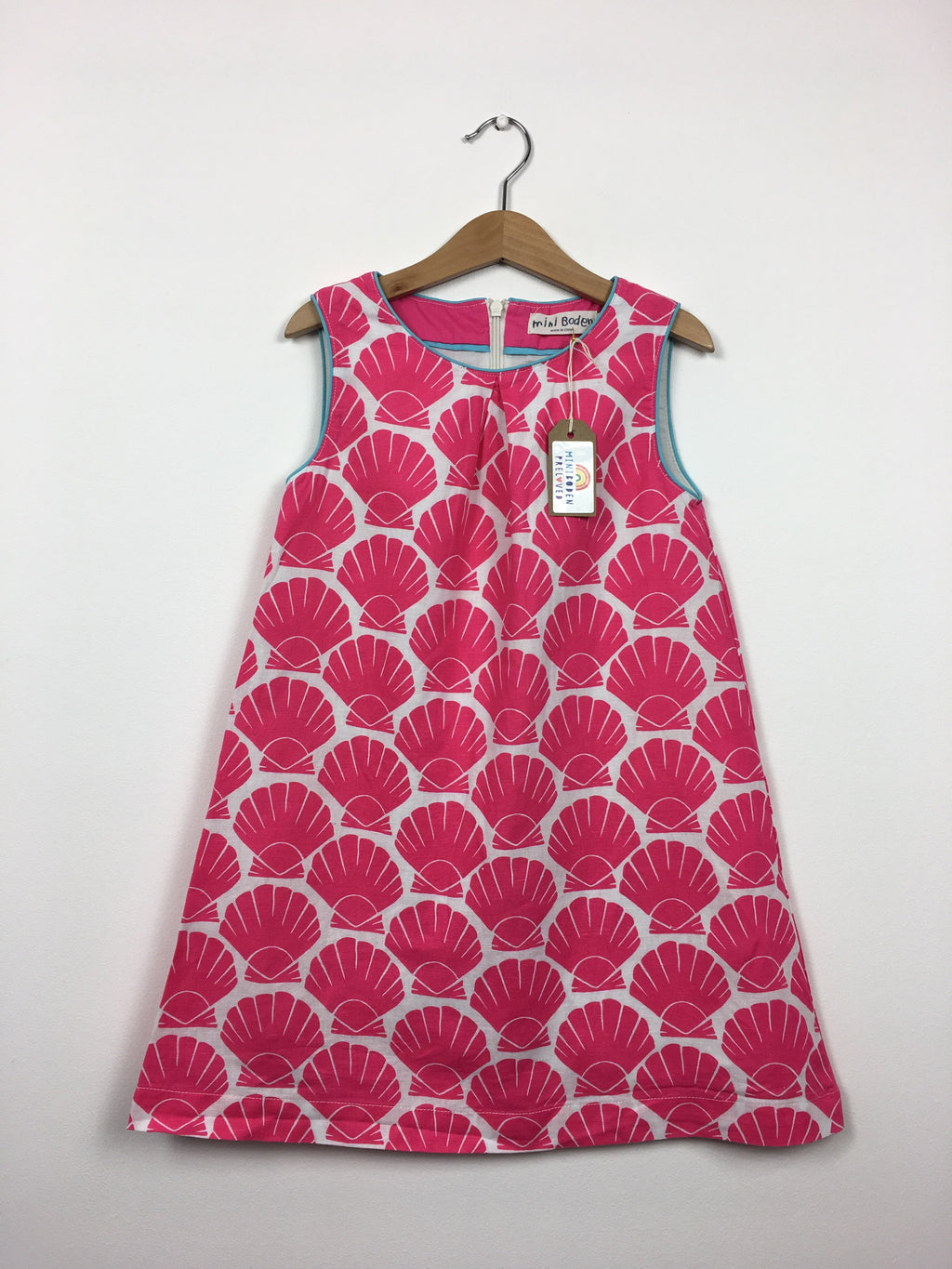Beautiful Linen Shell Print Dress (6-7 Years)