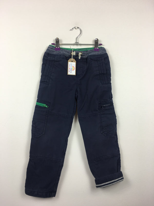 Lined Navy Cargo Trousers (5 Years)
