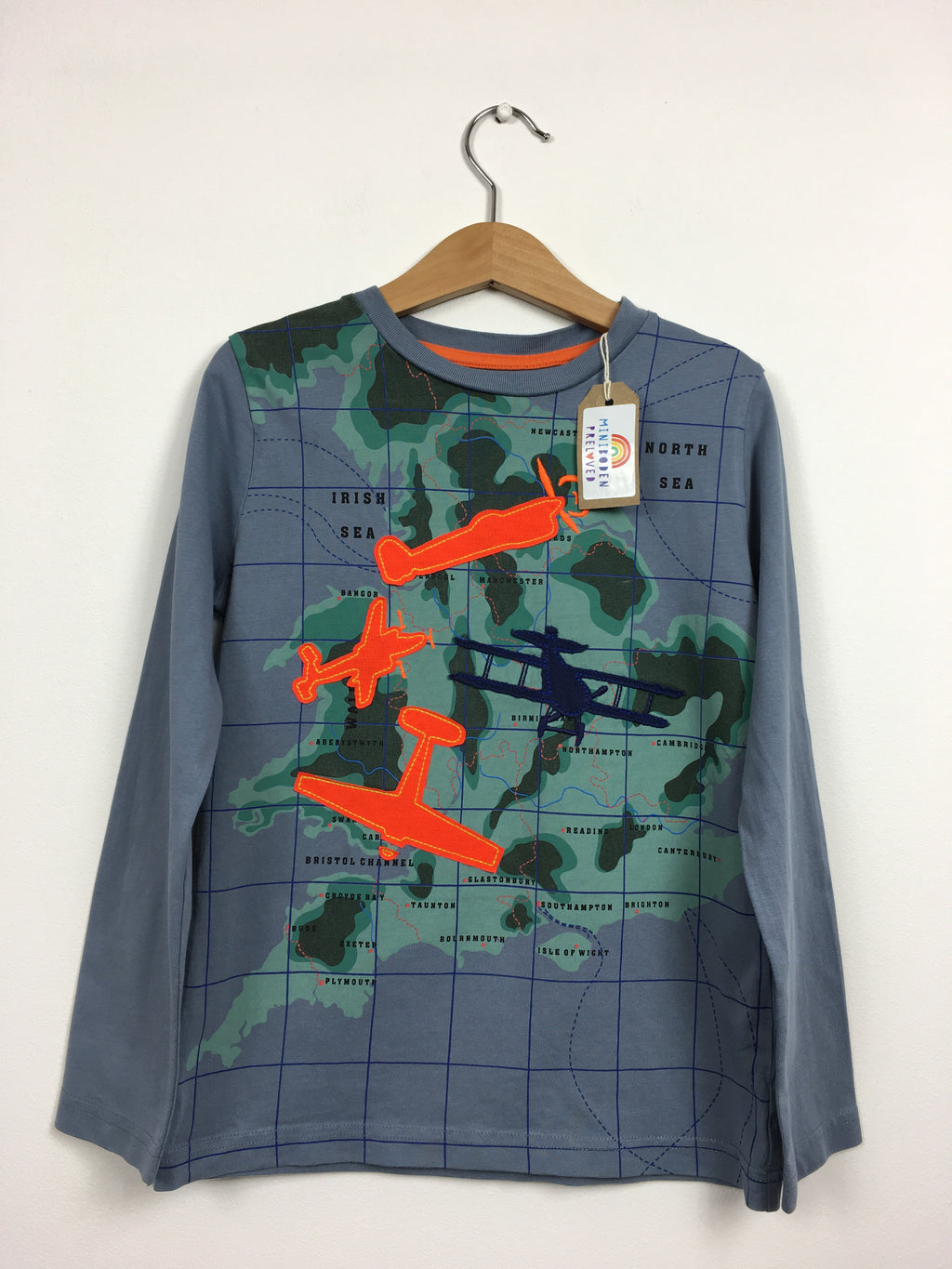 Grey Applique Spitfire Top (5-6 Years)