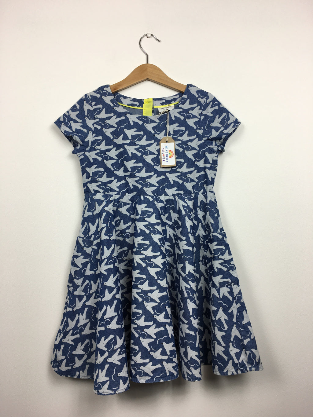 Dove Print Blue Dress (6-7 Years)
