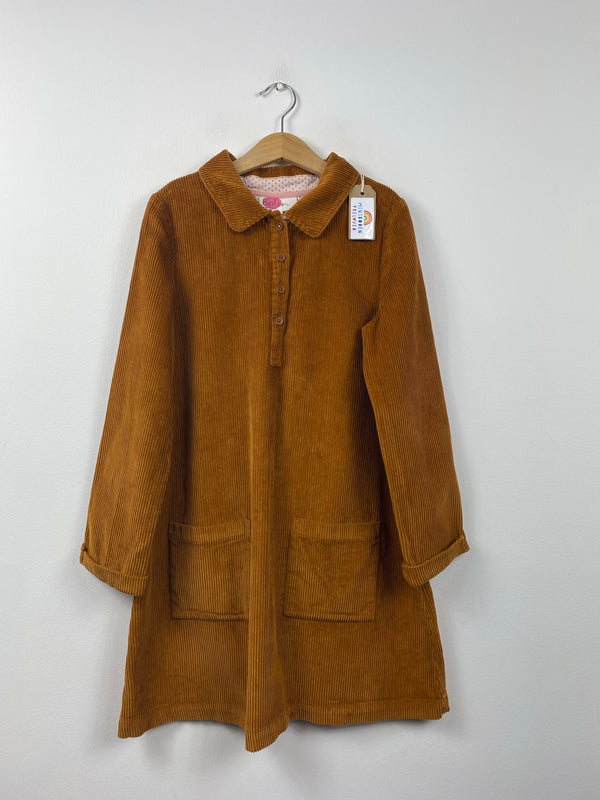 Lovely Long sleeved Brown Cord Dress (9-10 Years)