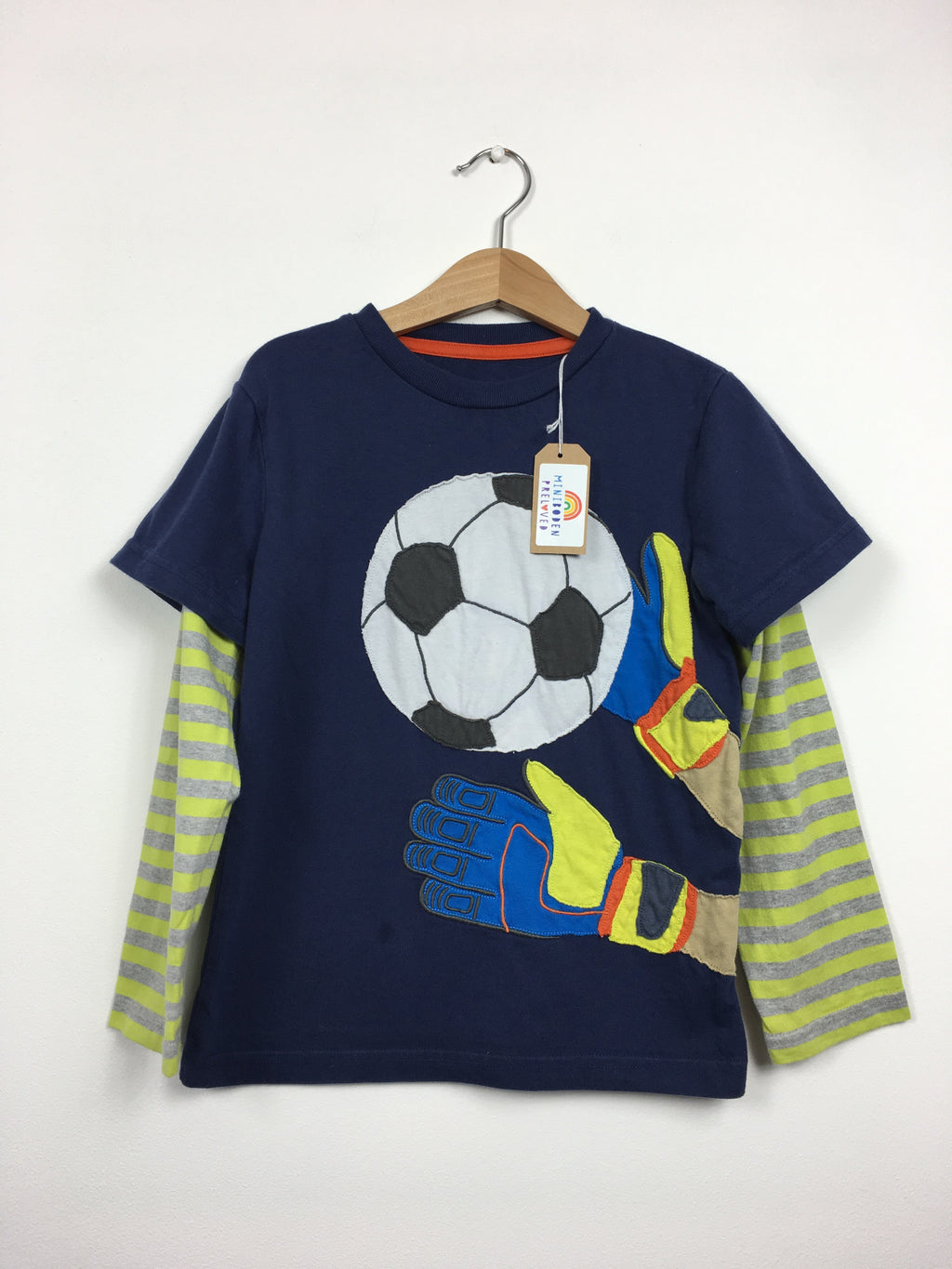 Applique Football Top (5-6 Years)