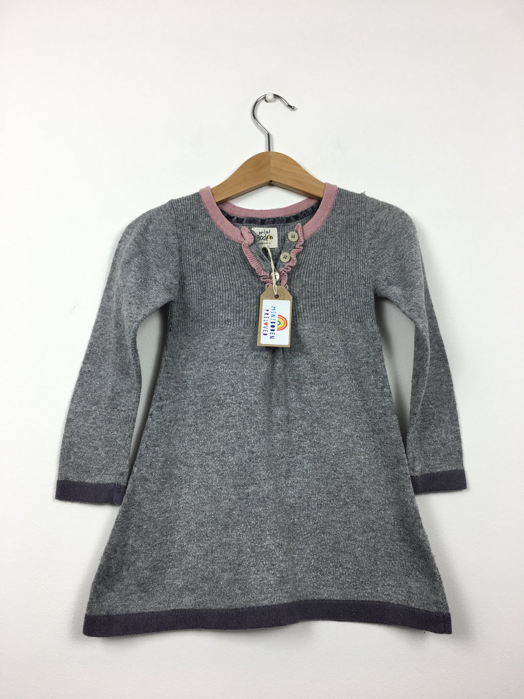 Simple Grey Knitted Dress (2-3 Years)