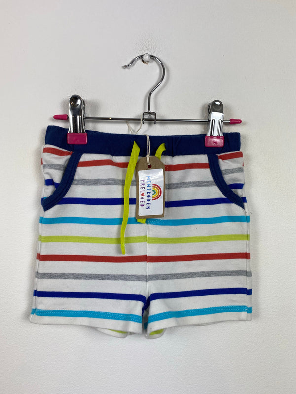 Multi-Stripe Cotton Shorts (6-12 Months)