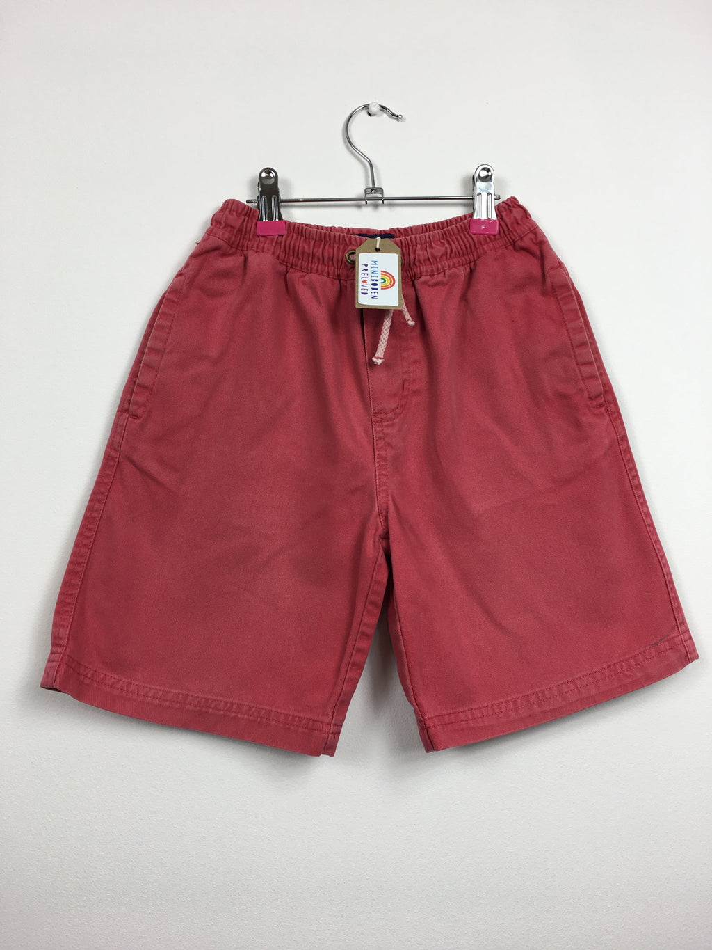 Red Thick Cotton Shorts (7-8 Years)