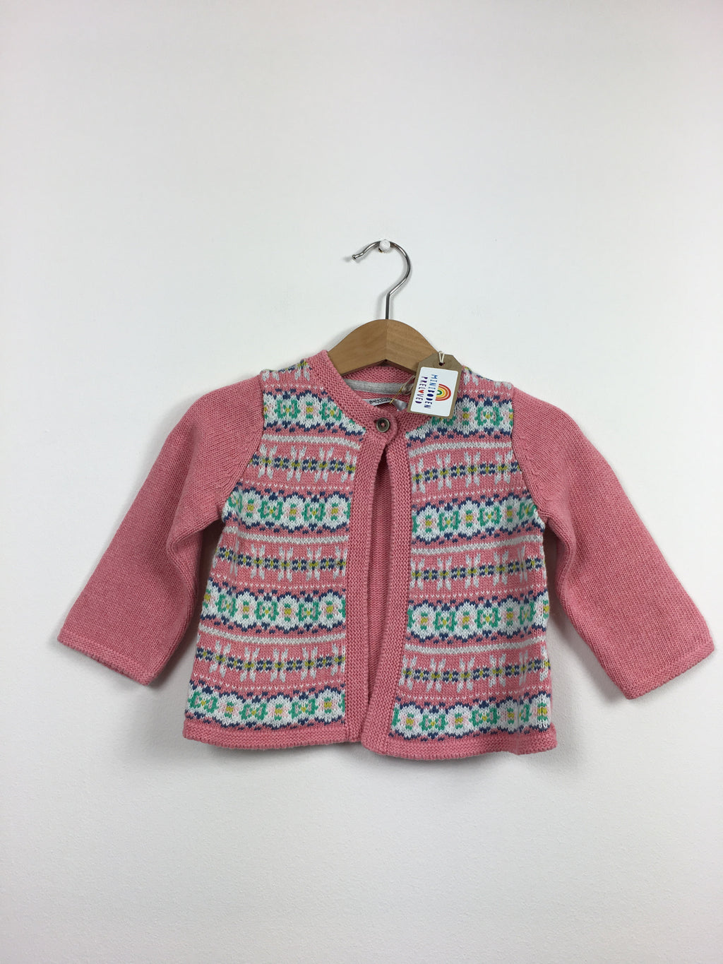 Beautiful Soft Pink Detailed Cardigan (6-12 Months)