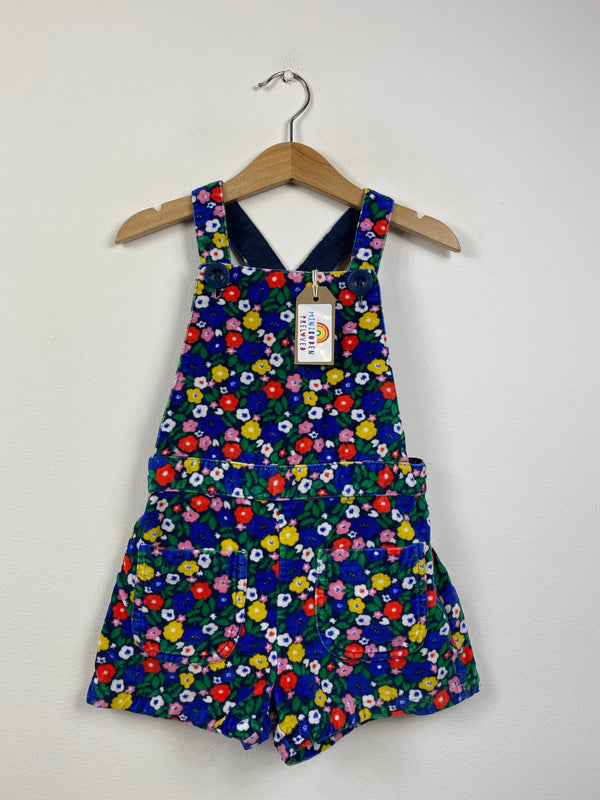 Gorgeous Dark Floral Dungarees (7-8 Years)
