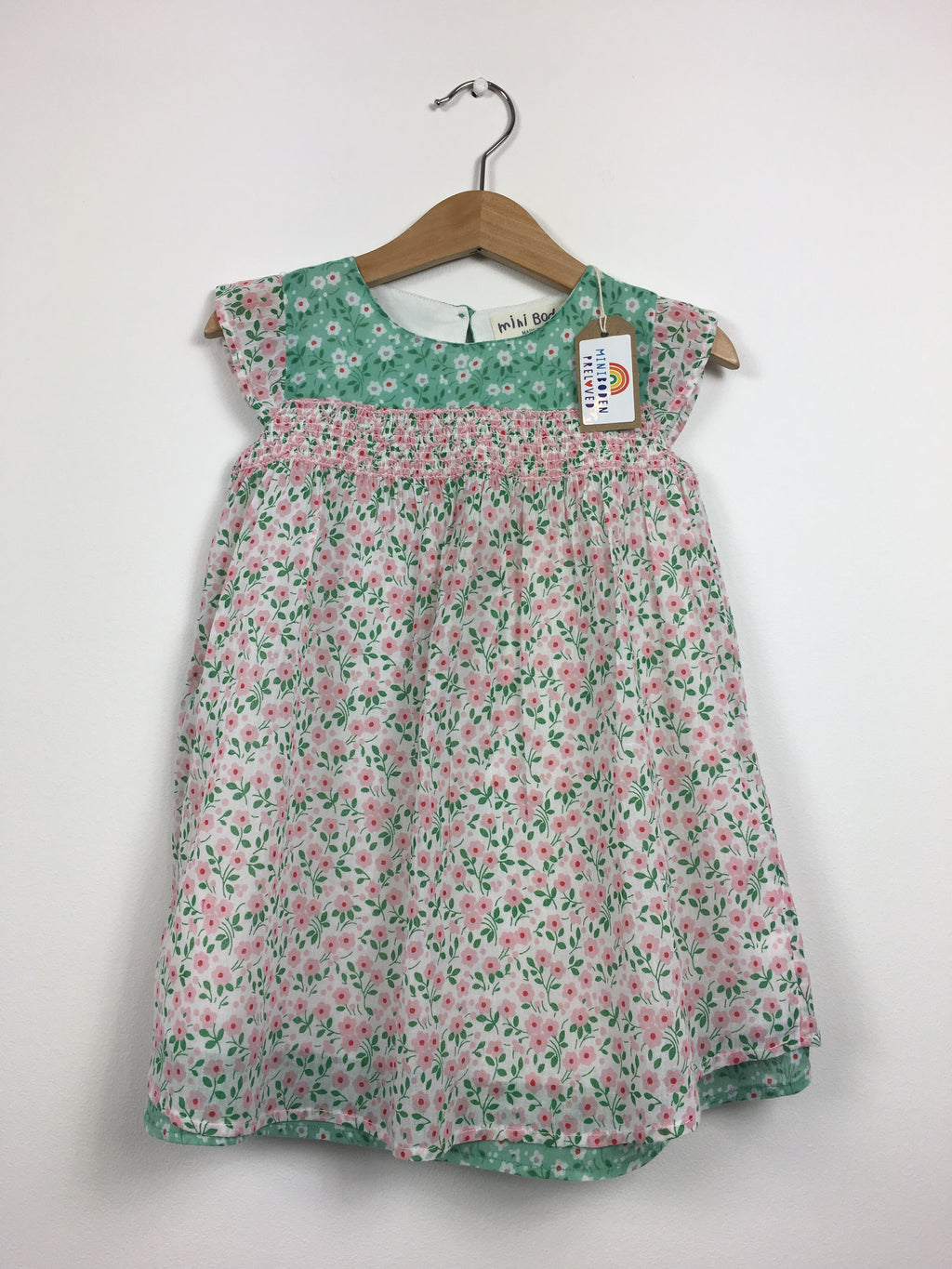 Pretty Pink & Green Floral Dress (2-3 Years)