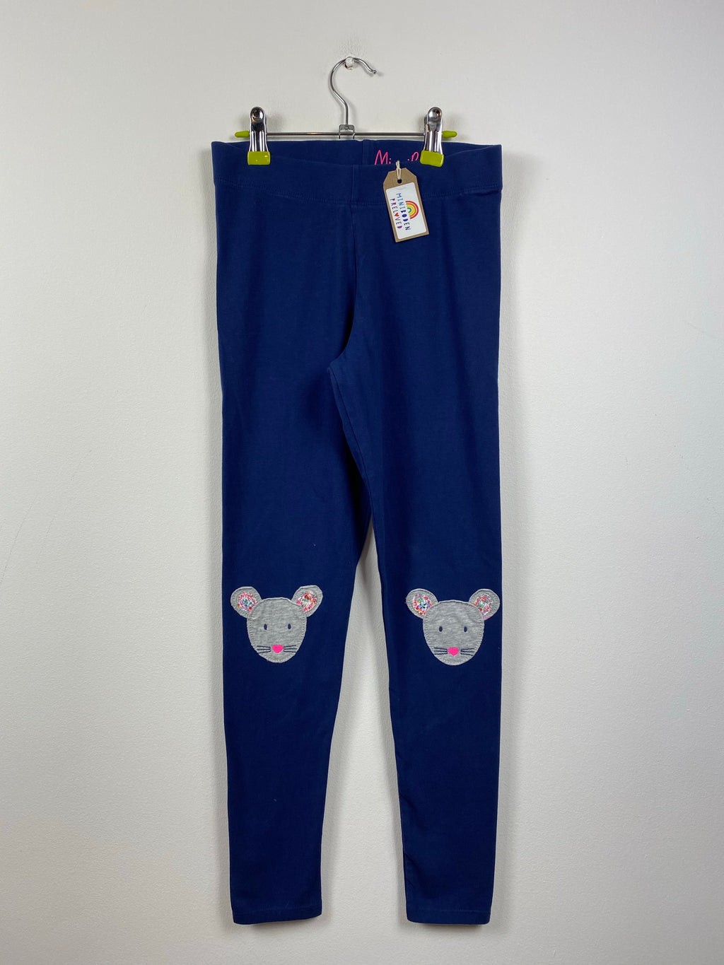 Navy Applique Mouse Knees Leggings (11-12 Years)