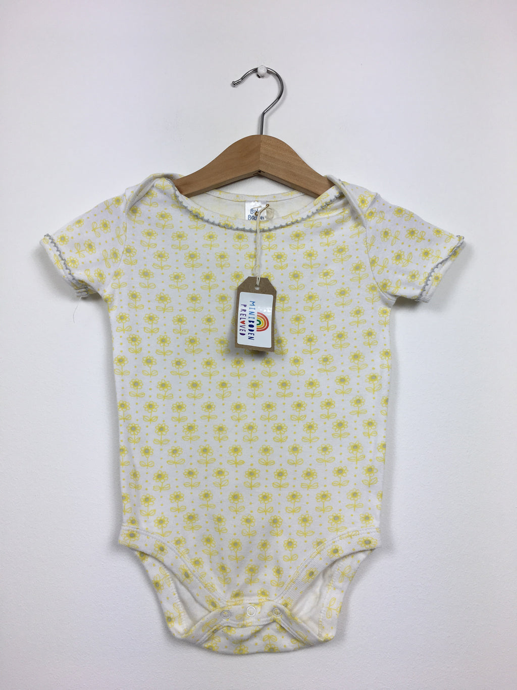 Pretty Yellow Daisy Print Vest (6-12 Months)