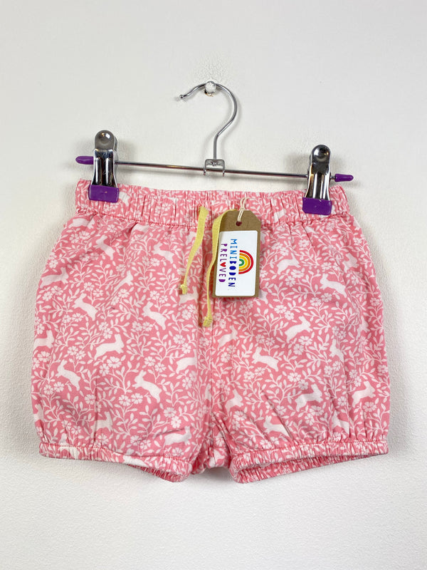 Pretty Pink Rabbit Design Shorts (12-18 Months)