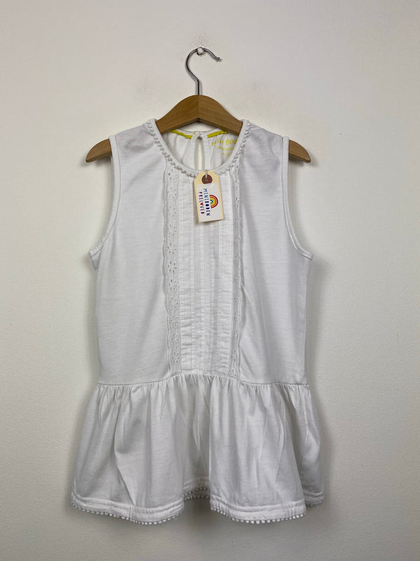 White Broderie Anglaise Sleeveless Top (9-10 Years)