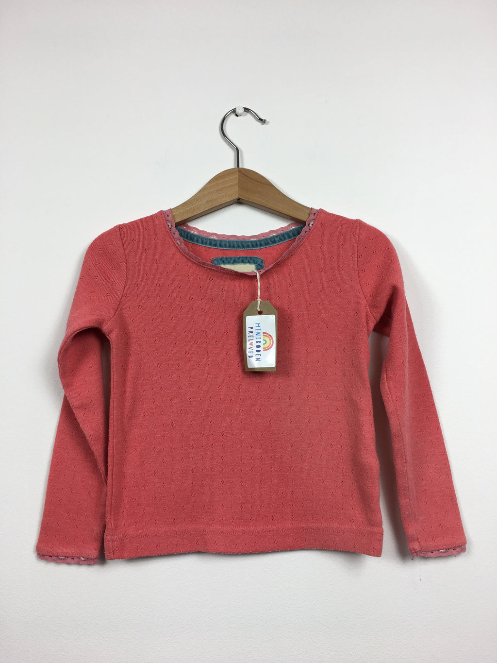 Coral Pointelle Top (2-3 Years)