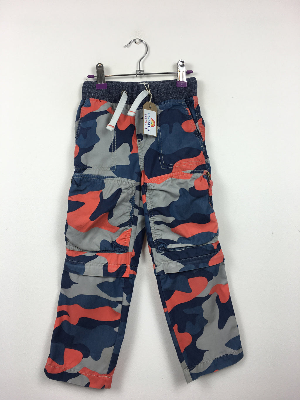 Camo Print Zip Off Cargo Pants (4 Years)