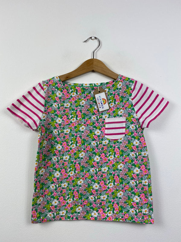 Pretty Floral & Stripes Top (5-6 Years)