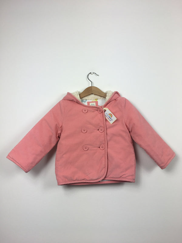 Pink Needlecord Jacket With Bird Print Lining (2-3 Years)