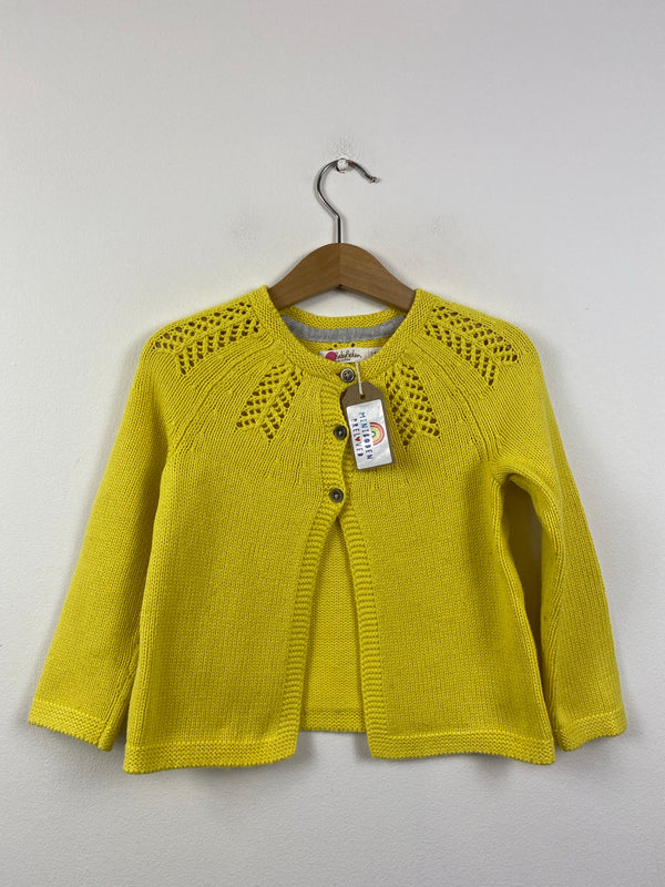 Detailed Canary Yellow Occasion Cardigan (3-4 Years)