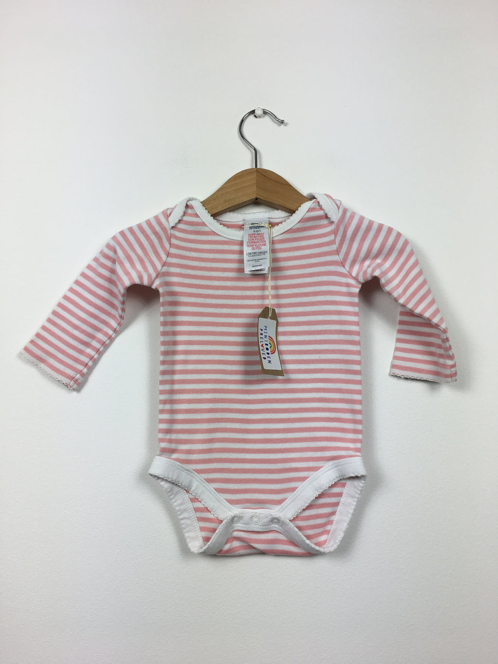 Pretty Pink Stripy Vest Top (3-6 Months)