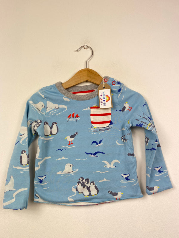 Blue & Red Reversible Arctic Print Top (6-12 Months)