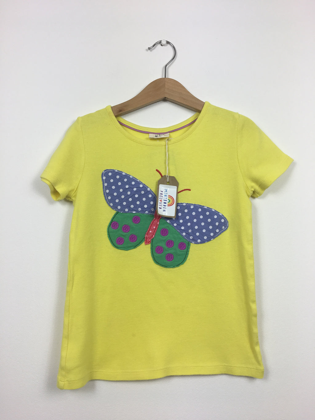 Yellow Appliqué Butterfly T-shirt (5-6 Years)