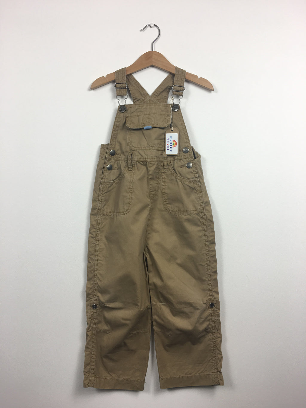 Brown Roll Up Dungarees (2-3 Years)