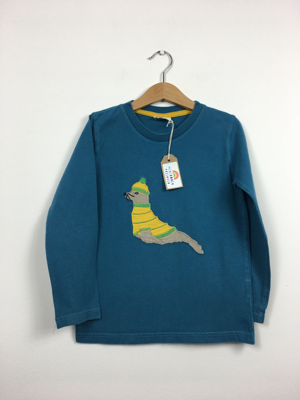 Blue Applique Seal Top (5-6 Years)