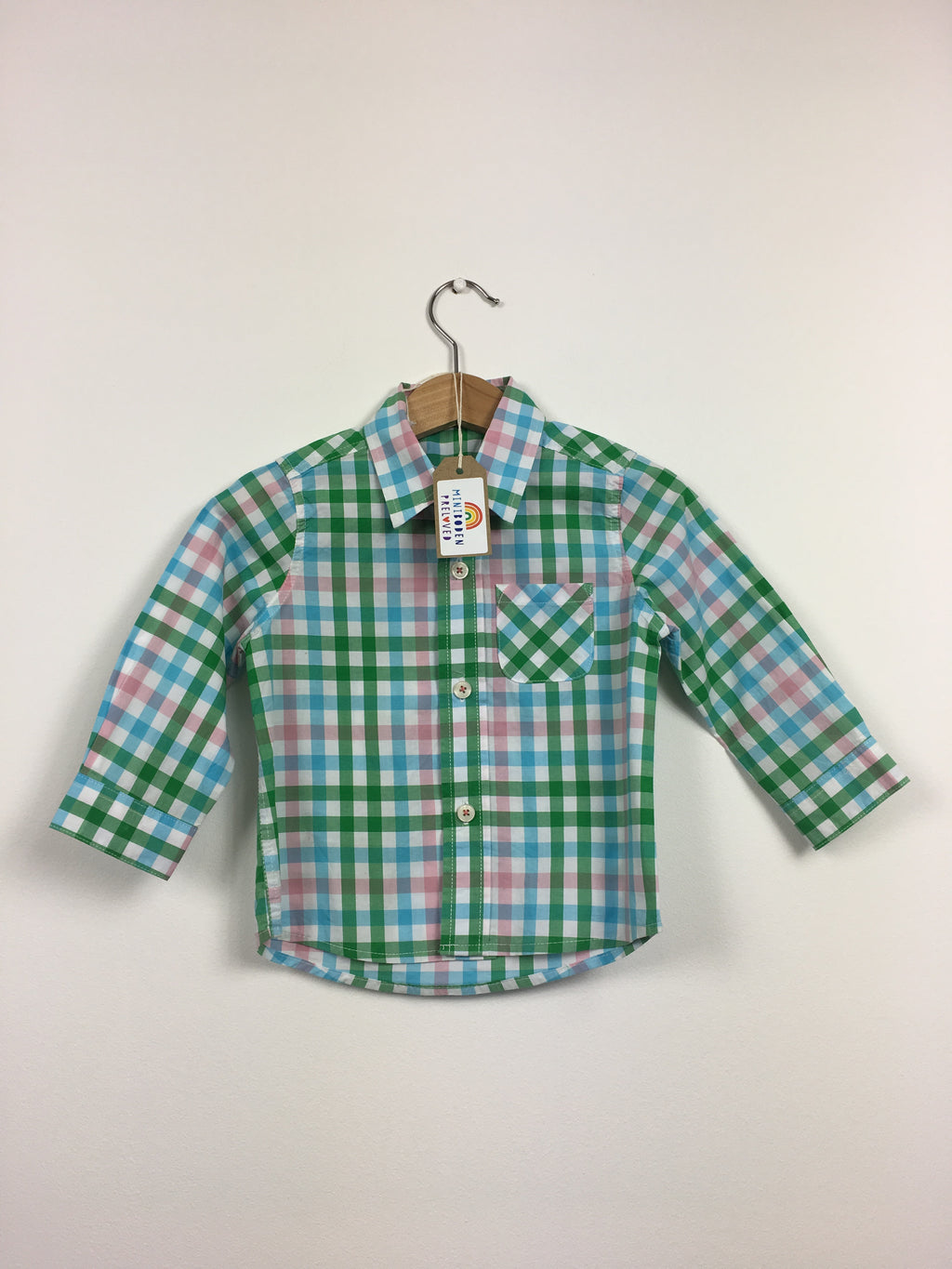 Green & Blue Checked Shirt (12-18 Months)