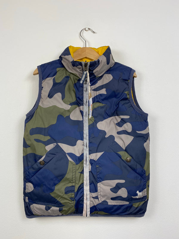 Reversible Camo/Mustard Lightweight Gilet (3-4 Years)