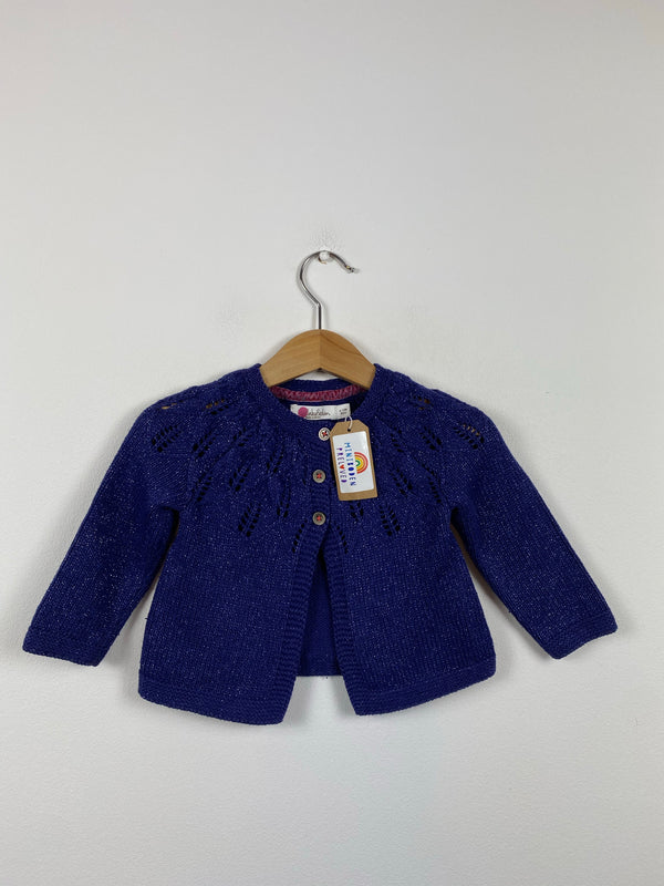 Blue Sparkle Knitted Occasion Cardigan (6-12 Months)