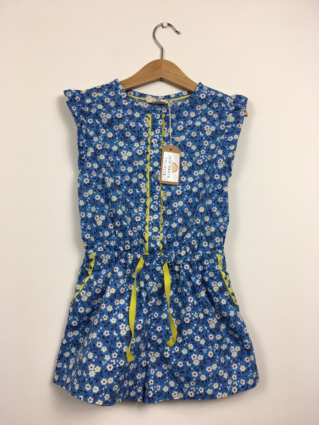 Blue Floral Playsuit (4-5 Years)