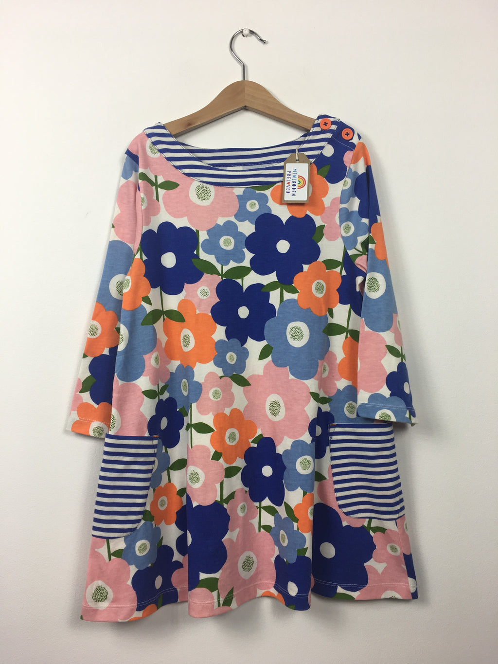 Vibrant Floral Print Tunic Dress (9-10 Years)