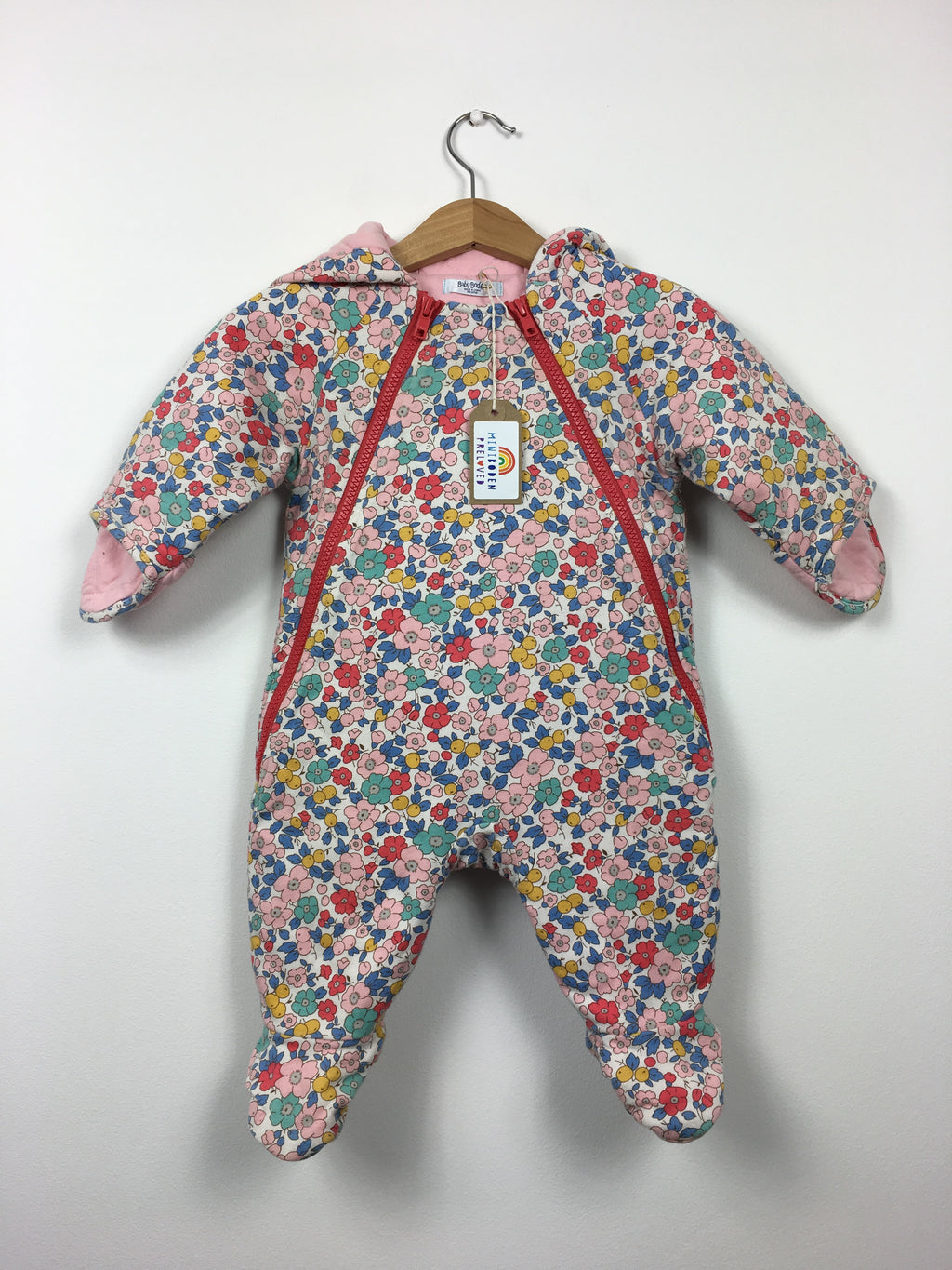 Liberty Print quilted Snowsuit (3-6 Months)