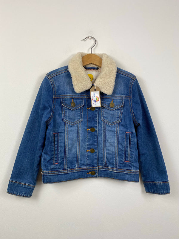 Classic Denim Jacket With Fleece Collar (6-7 Years)