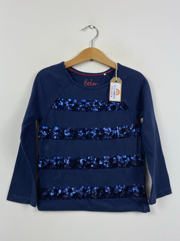 Fabulous Navy Sequin Party Top (3-4 Years)