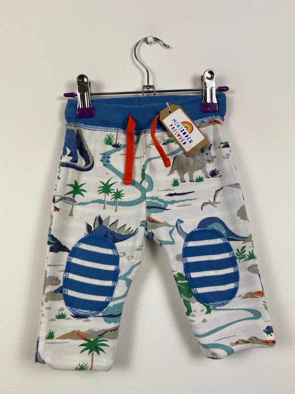 Dino/Blue Stripe Reversible Joggers (3-6 Months)
