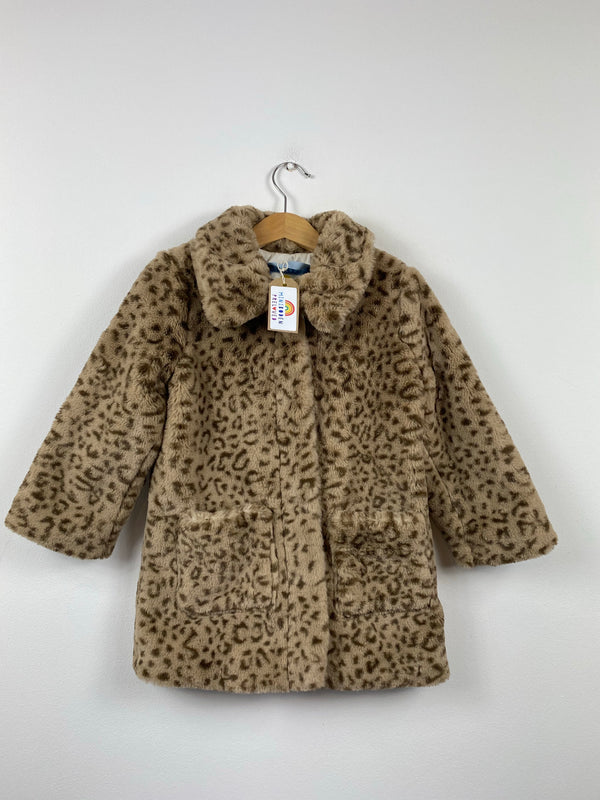 Beautiful Leopard print Fake fur Coat (3-4 Years)
