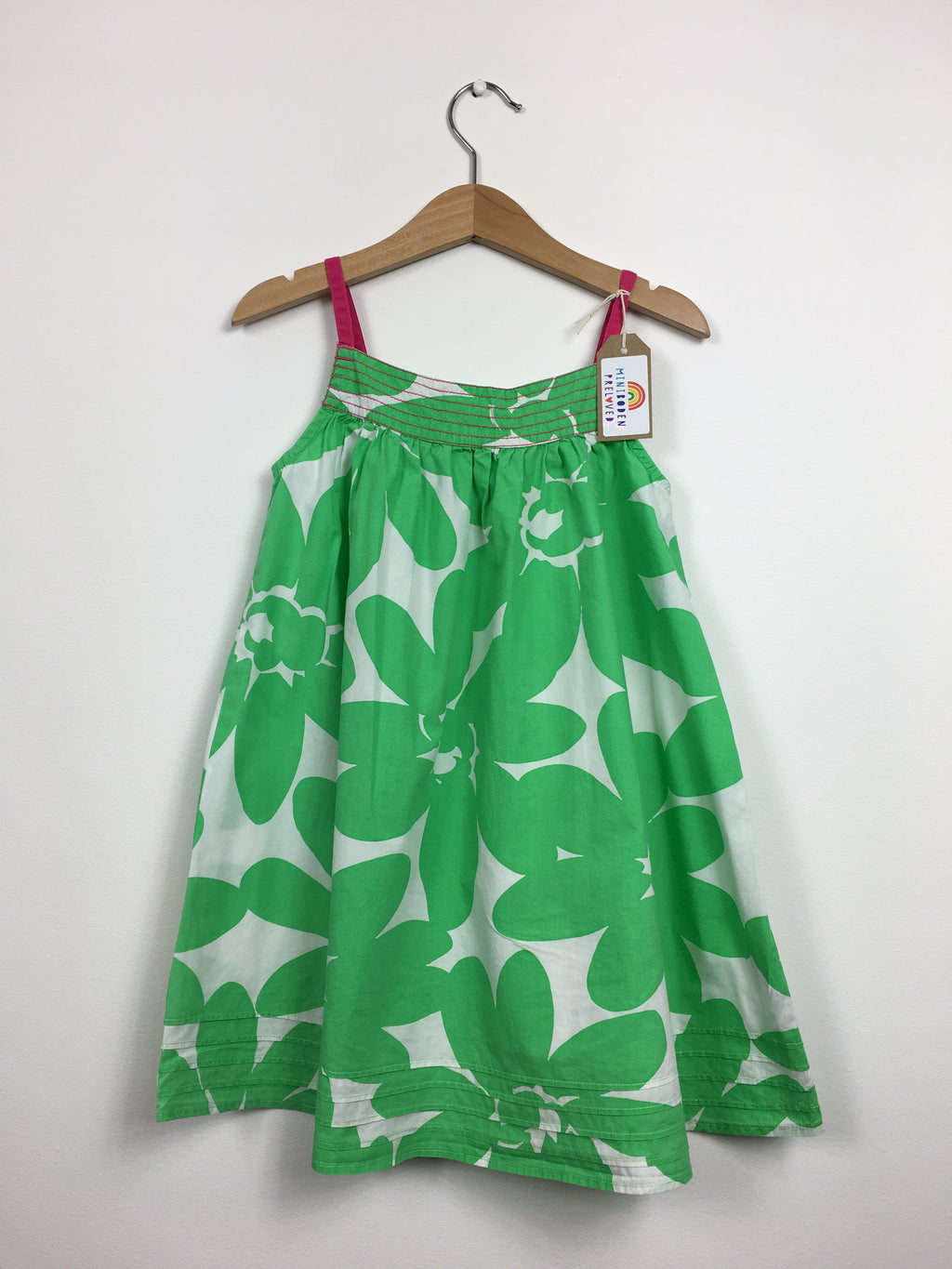 Green Floral Sun Dress (4-5 Years)