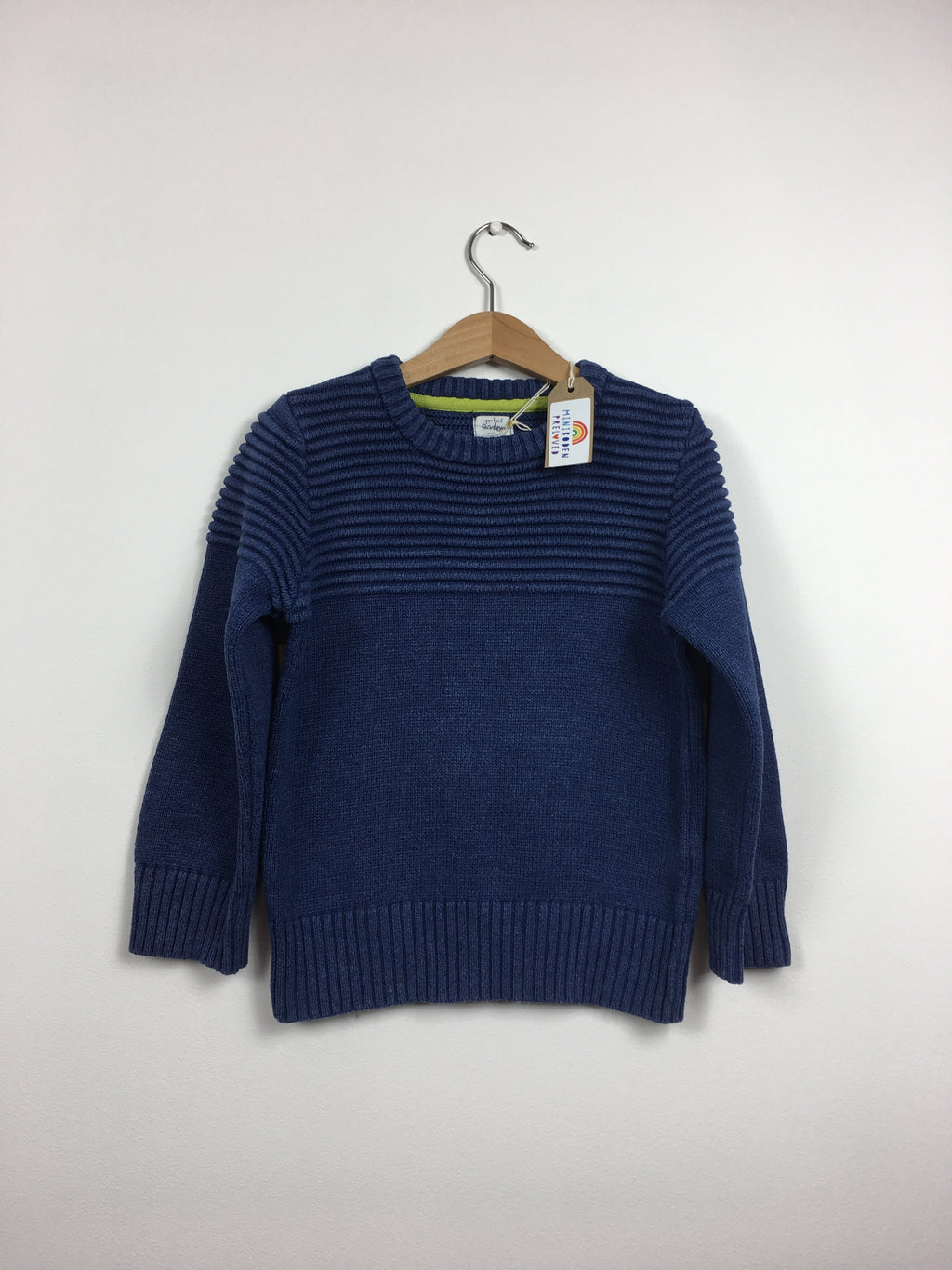 Navy Thick Cotton Jumper (Age 6-7 Years)