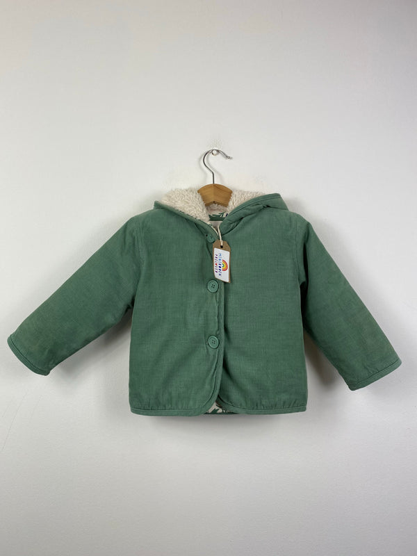 Green Needlecord Jacket With Enchanted Lining (12-18 Months)