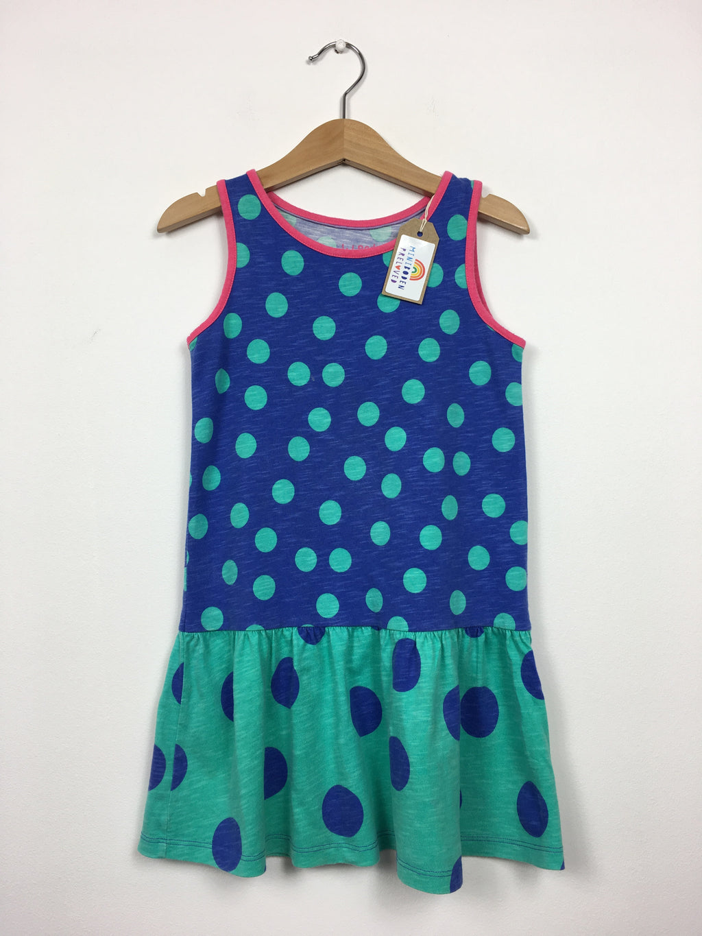 Blue & Green Spotty Sun Dress (6-7 Years)