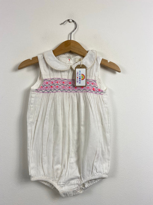 Beautiful White Smocked Romper (12-18 Months)