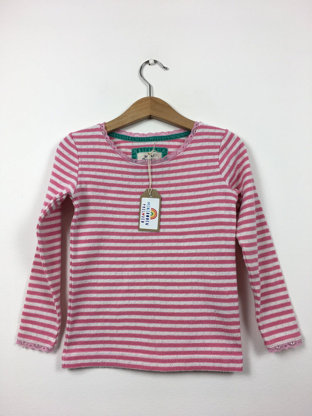 Pink Stripy Pointelle Top (3-4 Years)
