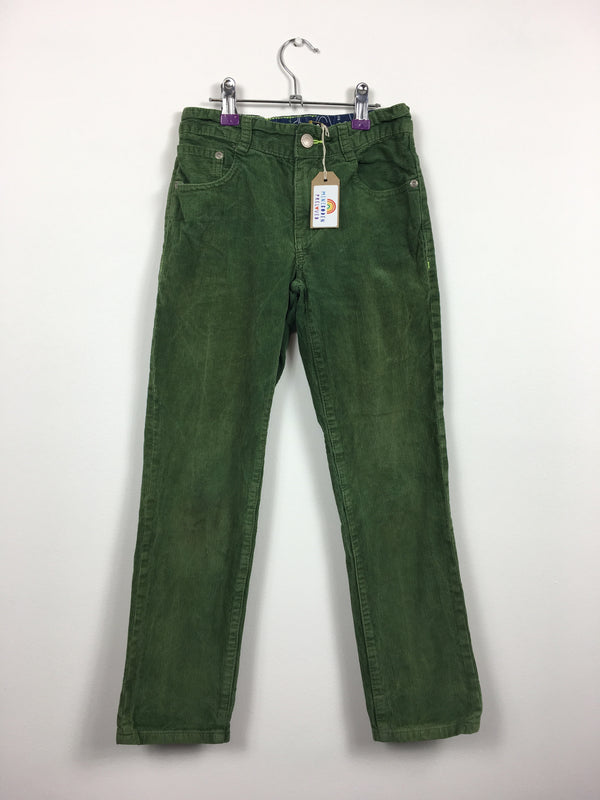 Green Straight Leg Cord Trousers (9 Years)
