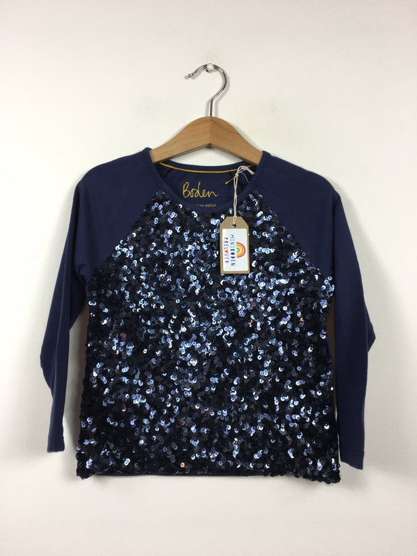 Fabulous Navy Sequin Party Top (4-5Years)