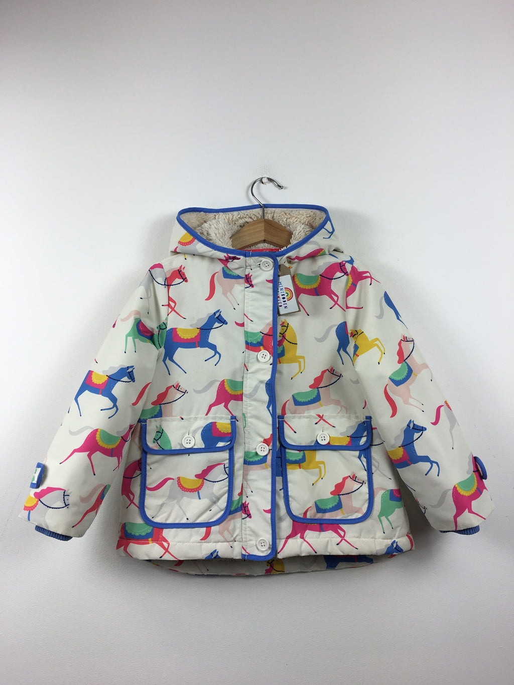 Carousel Horses Fleece Lined Jacket (3-4 Years)